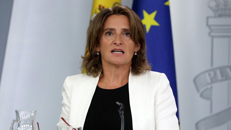 GRAF9626. MADRID, 27 09 2019.- La ministra de Transición Energética y Medio Ambiente, Teresa Ribera, durante la rueda de prensa posterior a la reunión del Consejo de Ministros celebrada este viernes en Moncloa. EFE J.J. Guillén