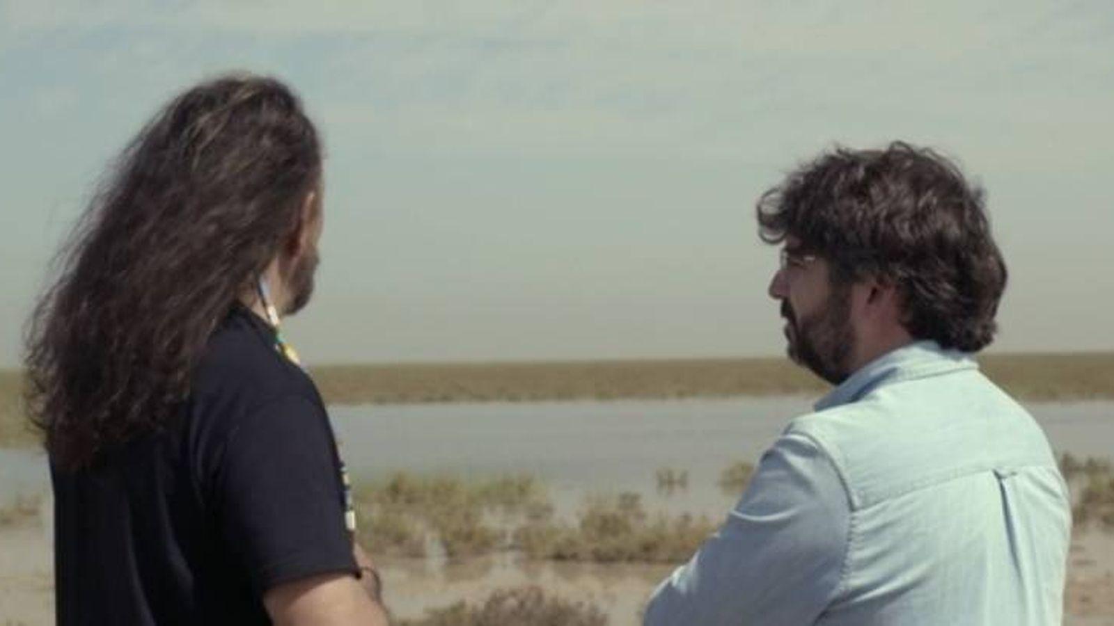 Foto: Plácido Rodríguez y Jordi Évole en 'Salvados'.