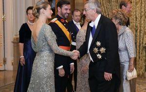 Los Príncipes de Asturias, los grandes ausentes de la cena de gala de los grandes duques herederos