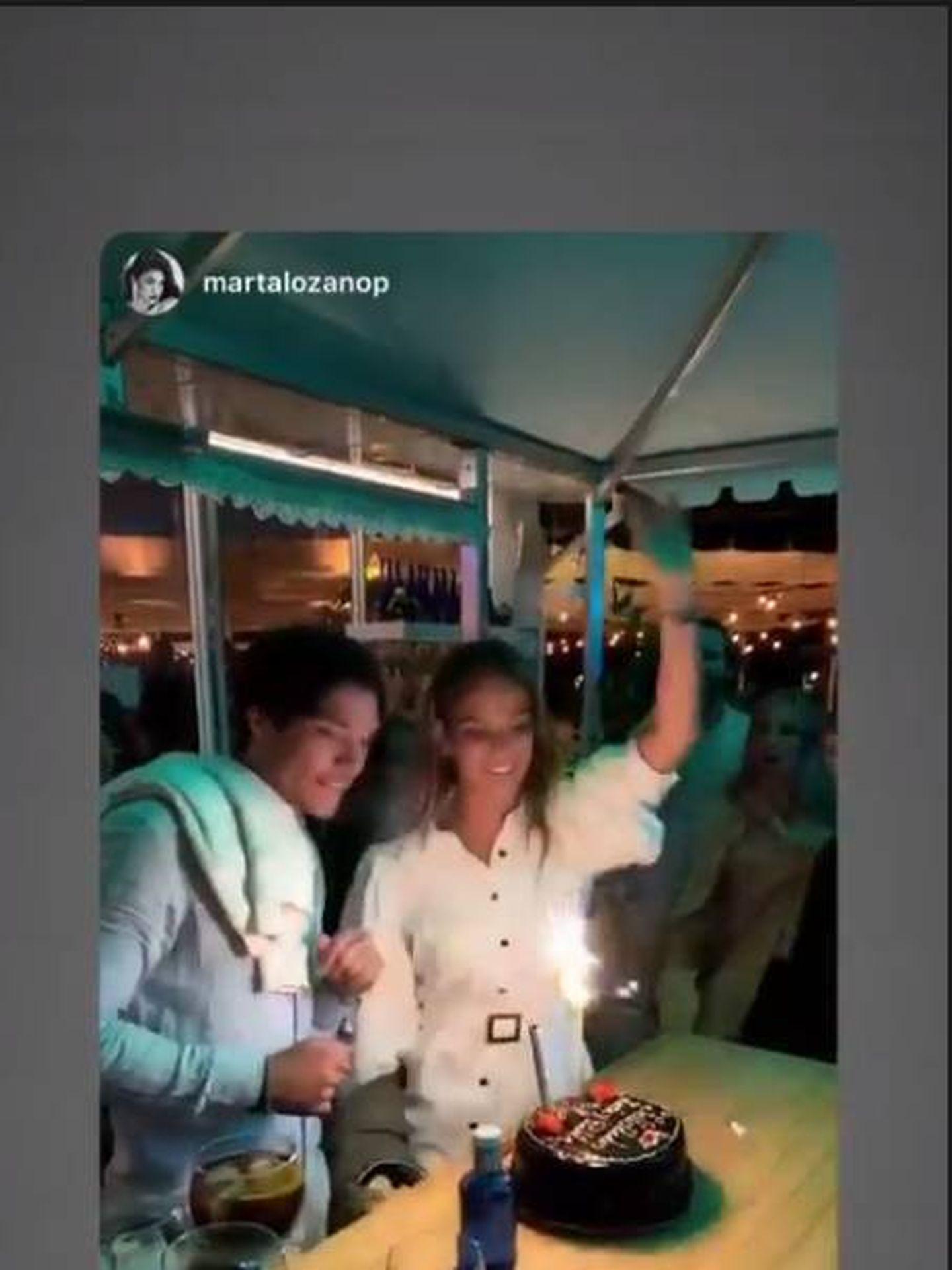 María Pombo en la fiesta del viernes por la noche antes de su boda. (IG)