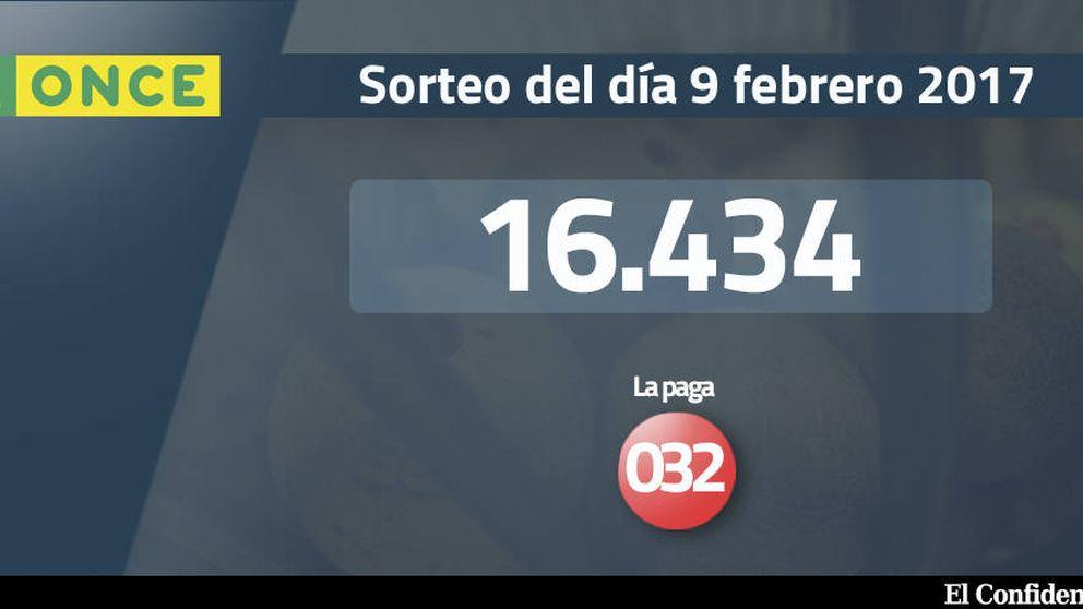 Resultados del sorteo de la ONCE del 9 febrero 2017: número 16.434