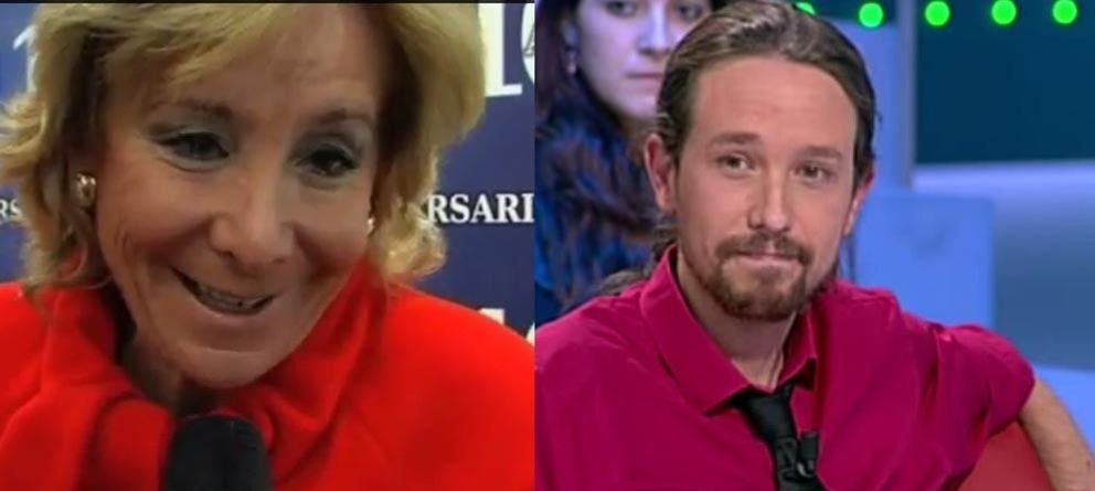 Foto: Esperanza Aguirre y Pablo Iglesias: el descrédito no funciona. (El Confidencial y La sexta)