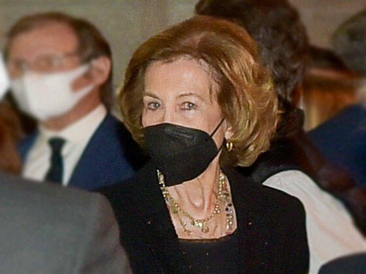 Foto: La reina Sofía, en el funeral de Puig de la Bellacasa. (RAM PRESS)
