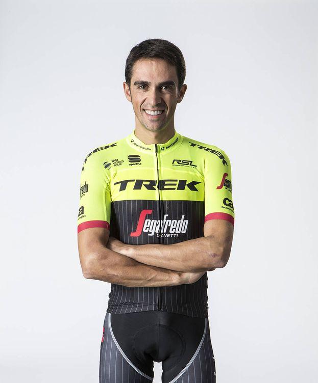 Foto: Alberto Contador ya luce los colores del Trek-Segafredo.