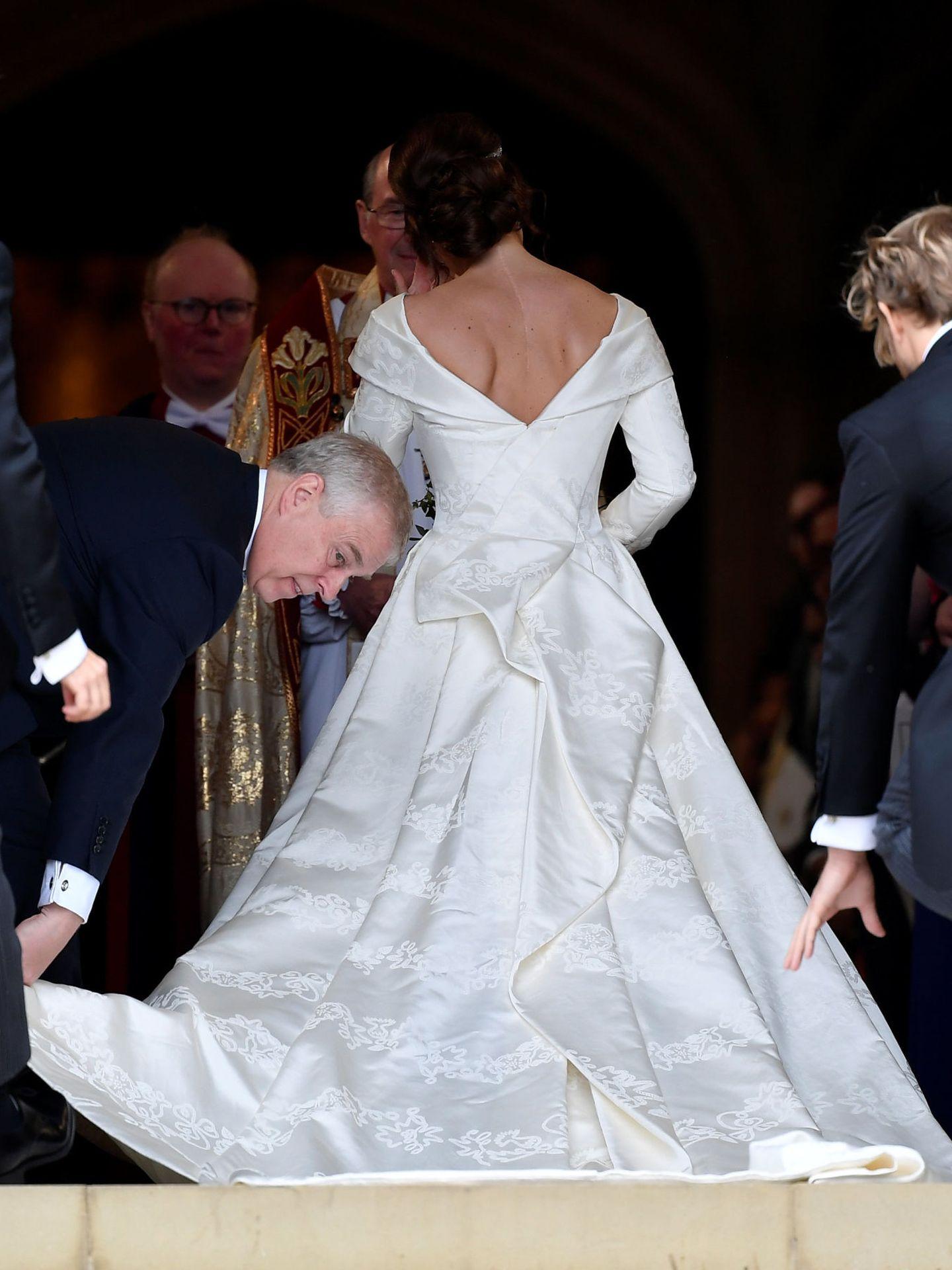Eugenia de York, al entrar en la iglesia. (Reuters)