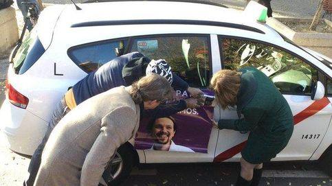 Podemos coloca publicidad en los taxis de Madrid a coste cero