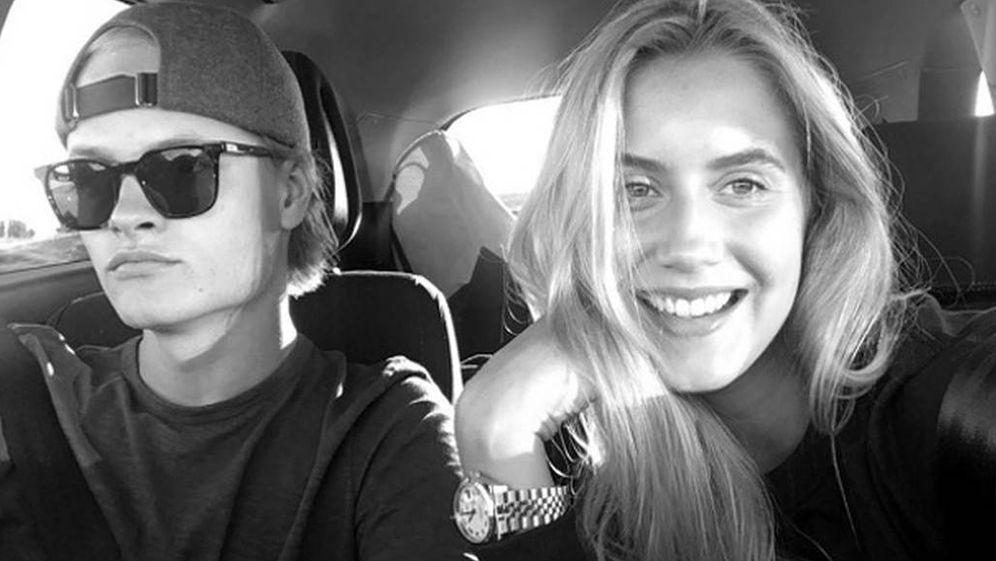 Foto: Marius Borg y Linn Helena Nielsen en una imagen de archivo de su Instagram.
