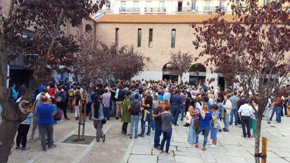 Foto: Un momento de la Asamblea de Más Madrid, celebrada en el centro cultural Galileo. (EC)