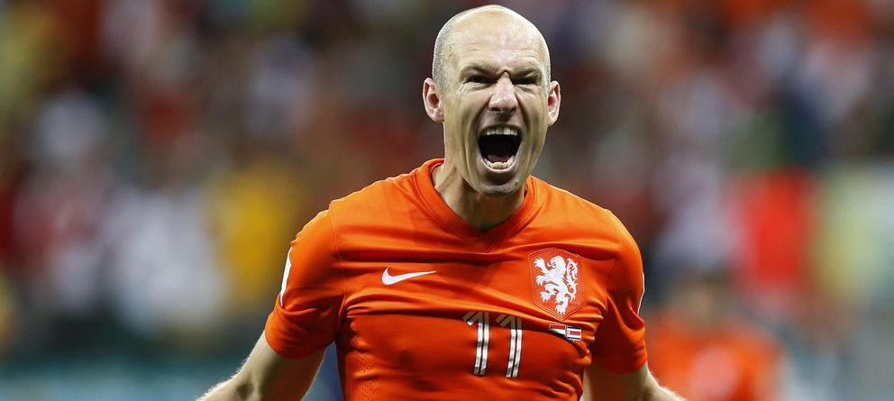 Foto: Arjen Robben celebra la clasificación de Holanda a las semifinales del Mundial.