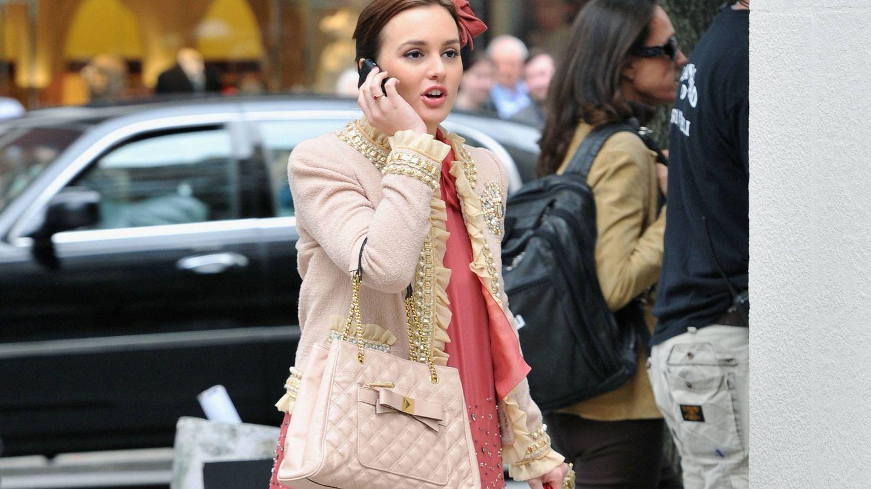 La actriz, rodando 'Gossip Girl'. (Getty)