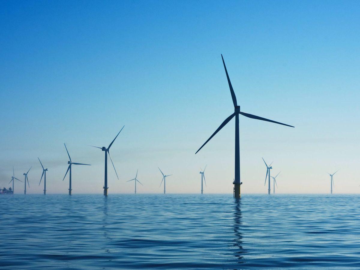 Foto: Imagen de archivo de un parque eólico marino. (Nicholas Doherty/Unsplash)