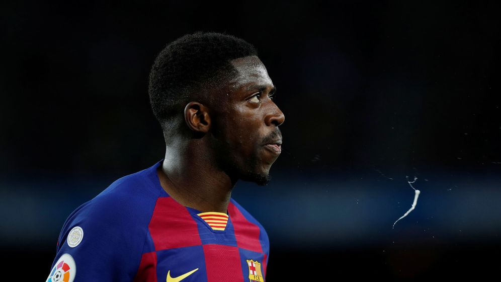 Foto: Dembélé, durante un partido con el Barcelona esta temporada. (Reuters)