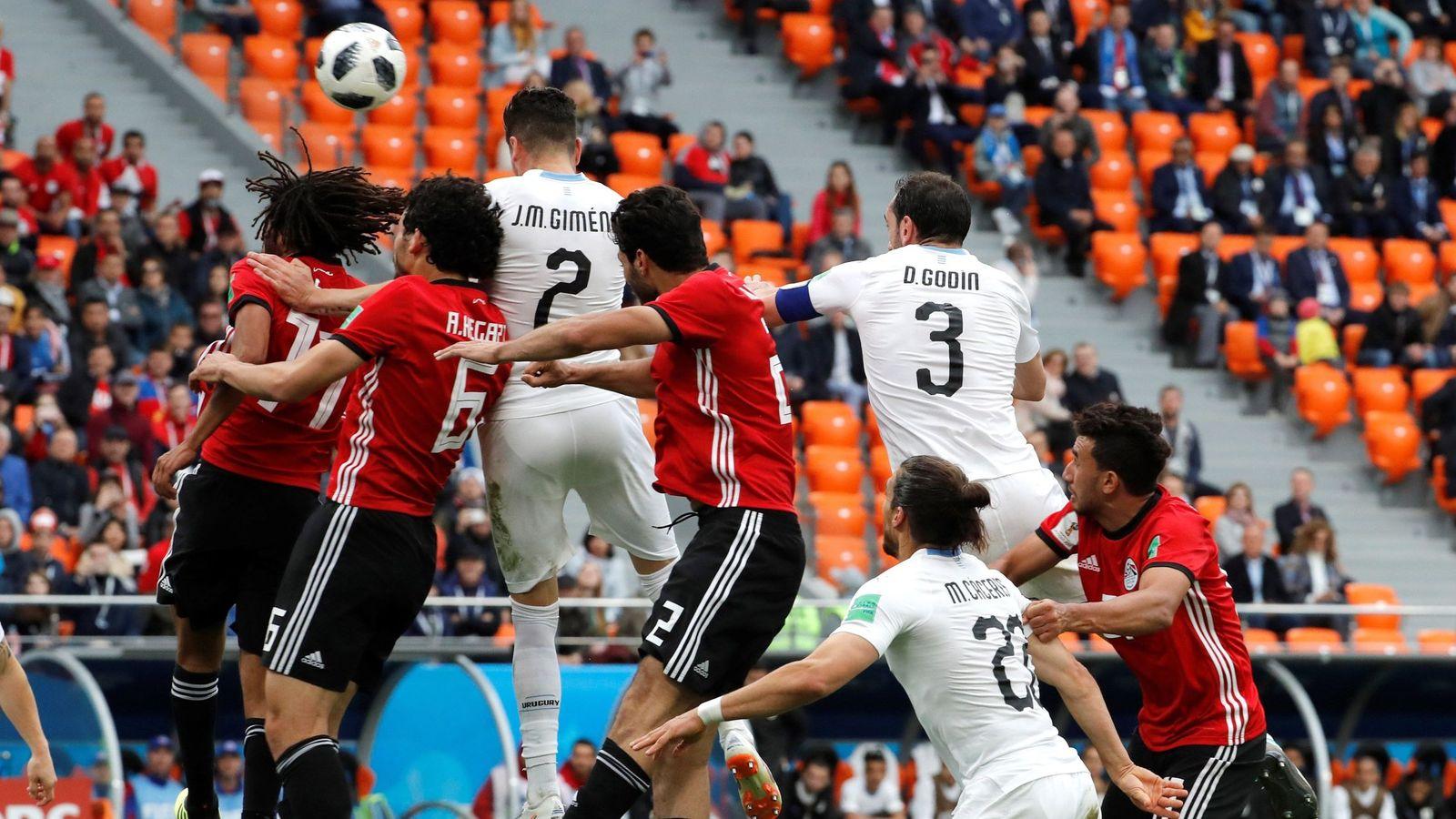 Foto: Egipto vs. uruguay