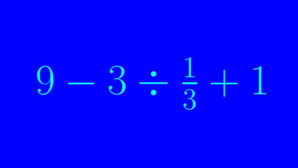 ¿Es capaz de resolver esta sencillísima operación matemática?