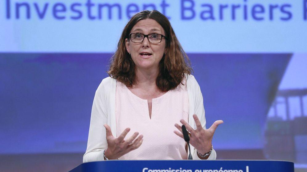 Foto: La comisaria europea de Comercio, Cecilia Malmström. (EFE)