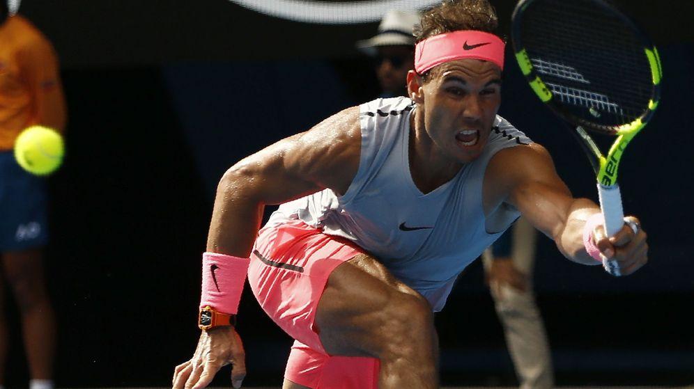 Foto: Nadal, en el partido contra Schwartzman. (Reuters)