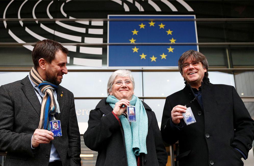 Foto: Comín, Ponsatí y Puigdemont, inmunes ya como eurodiputados, estarán el 29 en Perpiñán. (Reuters)