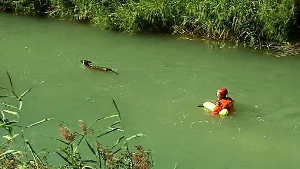 Foto: Búsqueda del niño en el río Cabriel