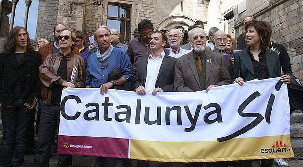 Foto: Llach en un acto de la plataforma Catalunya Sí organizado por ERC (Efe)