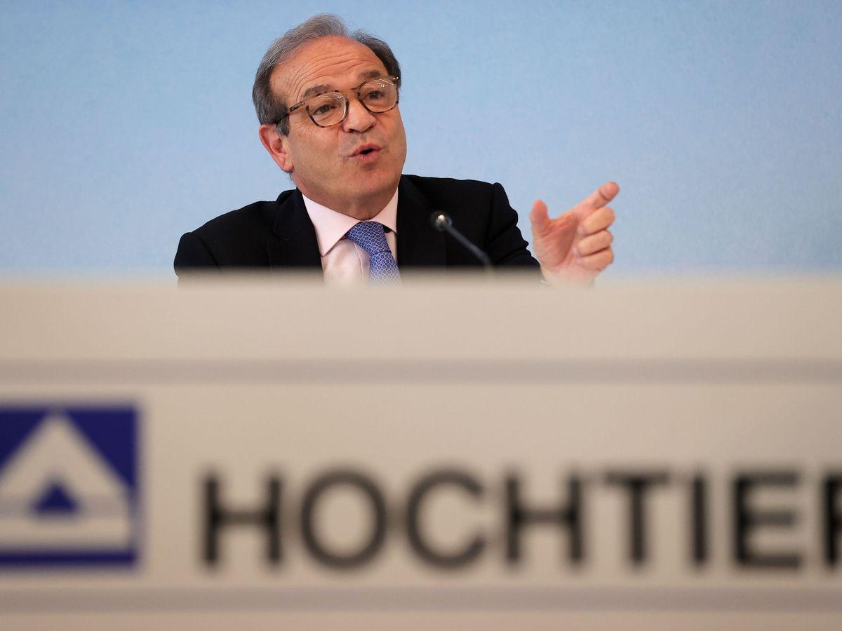 Foto: Marcelino Fernández Verdes, durante una rueda de prensa de Hochtief. (EFE)