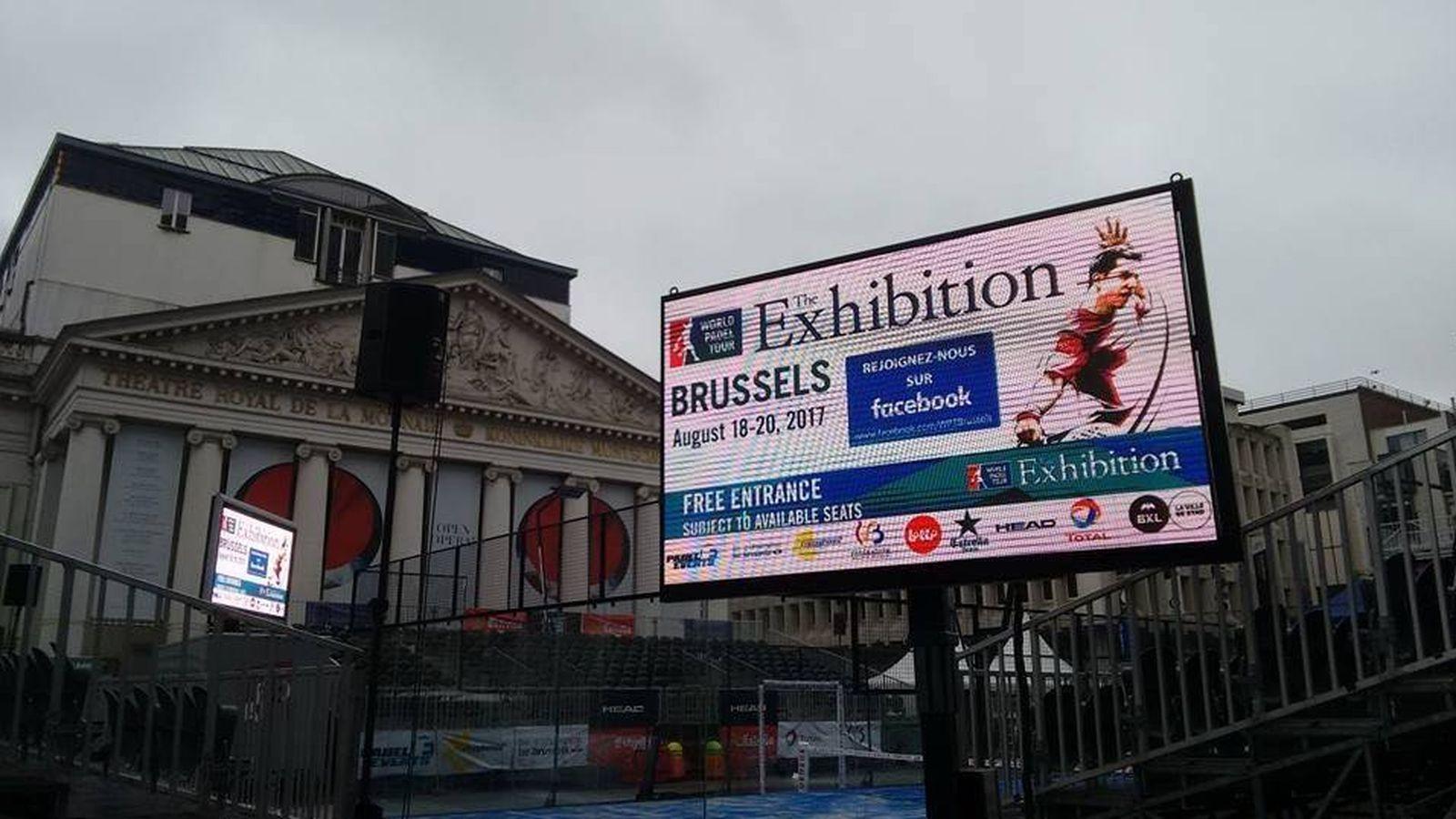 Foto: La Place de la Monnaie de Bruselas acoge este fin de semana al World Padel Tour. (World Padel Tour)