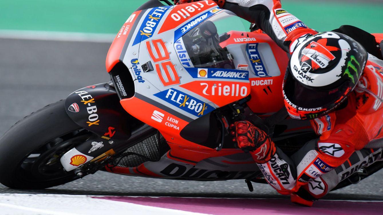 La primera vez de Jorge Lorenzo con Ducati llegó justo antes de su castaña