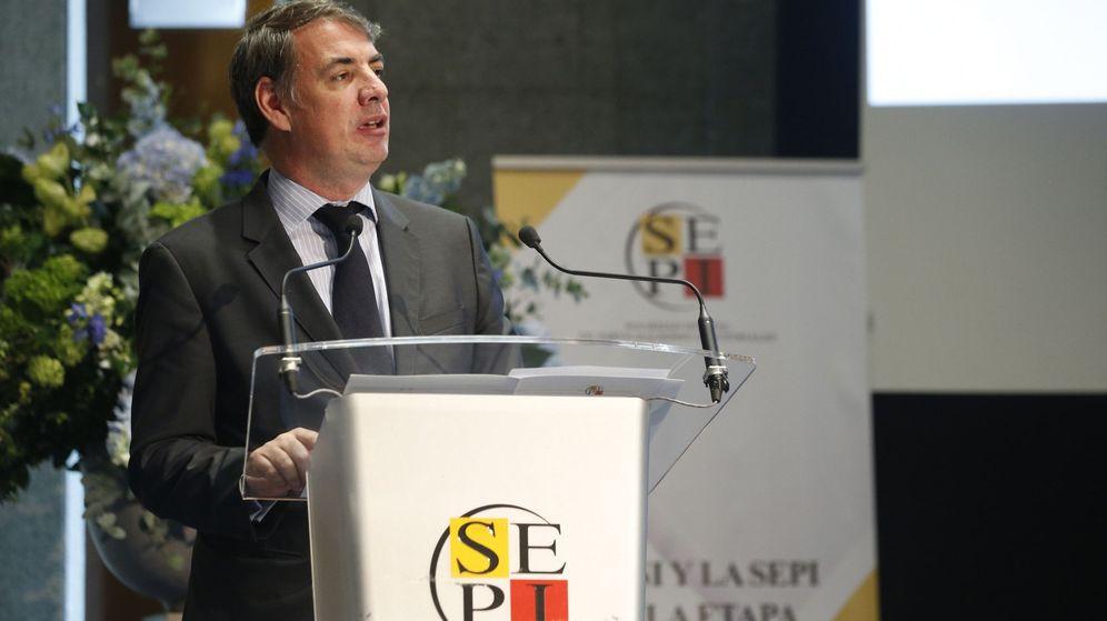 Foto: Vicente Fernández, ya expresidente de la SEPI, en un acto de esta sociedad estatal en noviembre de 2018. (EFE)