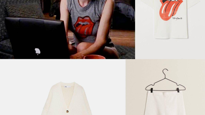 Camiseta de H&M, shorts de Zara Home y chaqueta de Zara.