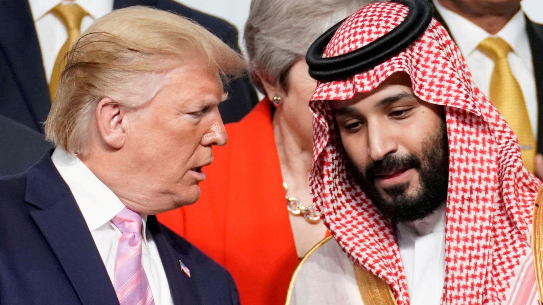 Donald Trump, junto al príncipe saudí Bin Salman. (Reuters)