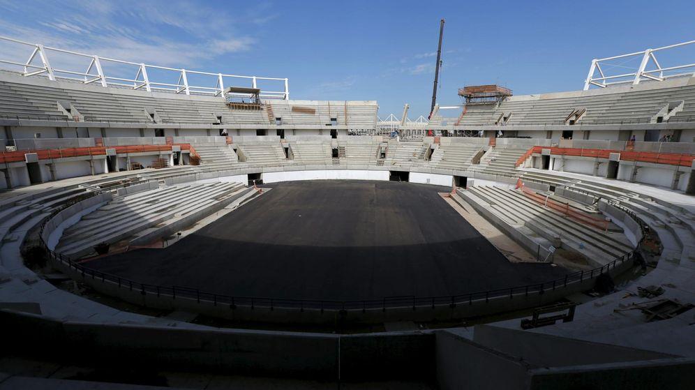Foto: Obras del Centro Olímpico de Tenis (Reuters).