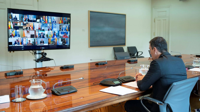 Foto: Pedro Sánchez, durante la duodécima conferencia de presidentes autonómicos, este 31 de mayo. (Borja Puig | Pool Moncloa)