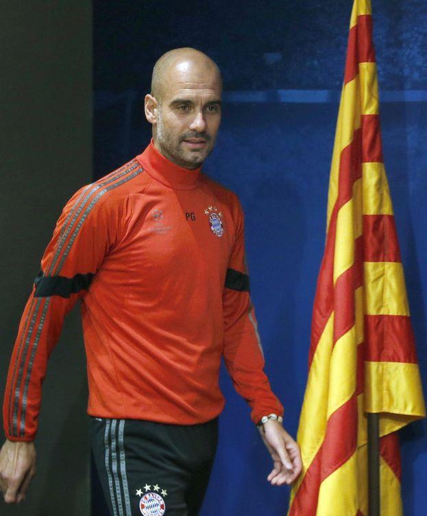 Foto: Pep Guardiola, en su regreso al Camp Nou como técnico del Bayern (Efe)