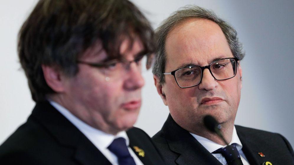 Foto: Carles Puigdemont y Quim Torra. (EFE)