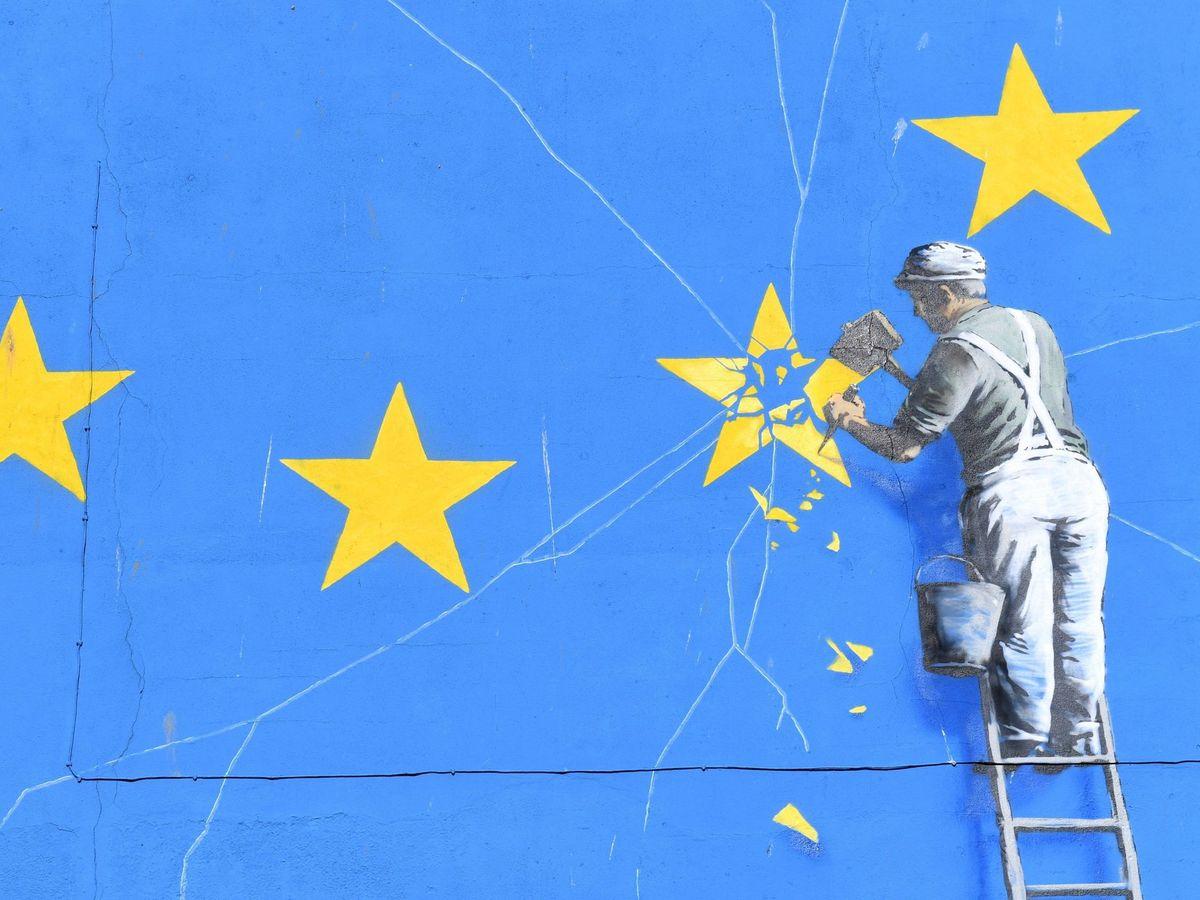 Foto: Mural en Dover del artista callejero Banksy. (EFE)