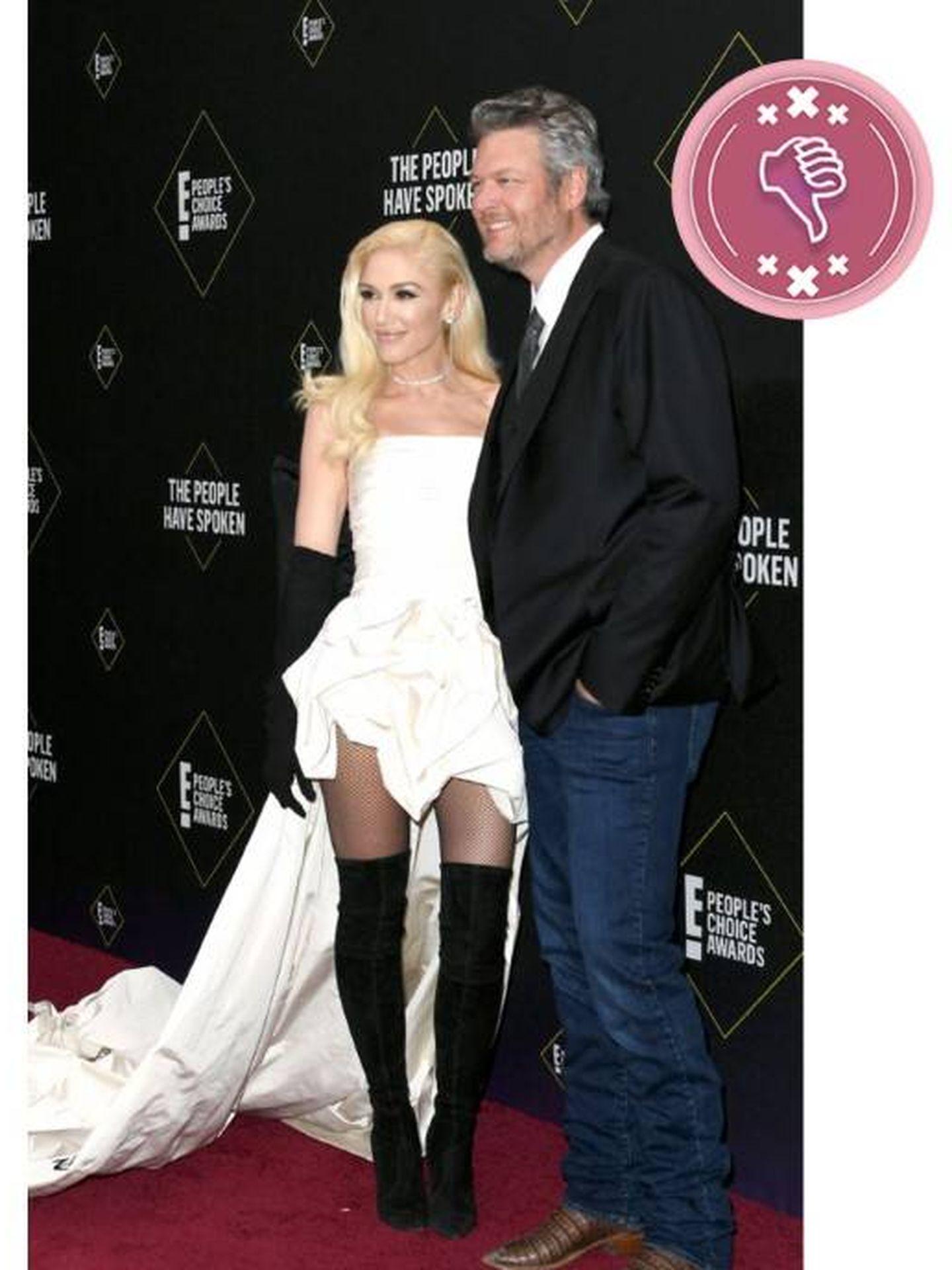 Gwen Stefani y Blake Shelton. (Getty)