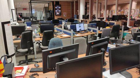 El 80% de los trabajadores de TV3 se suman a la huelga en Barcelona por la sentencia del TS