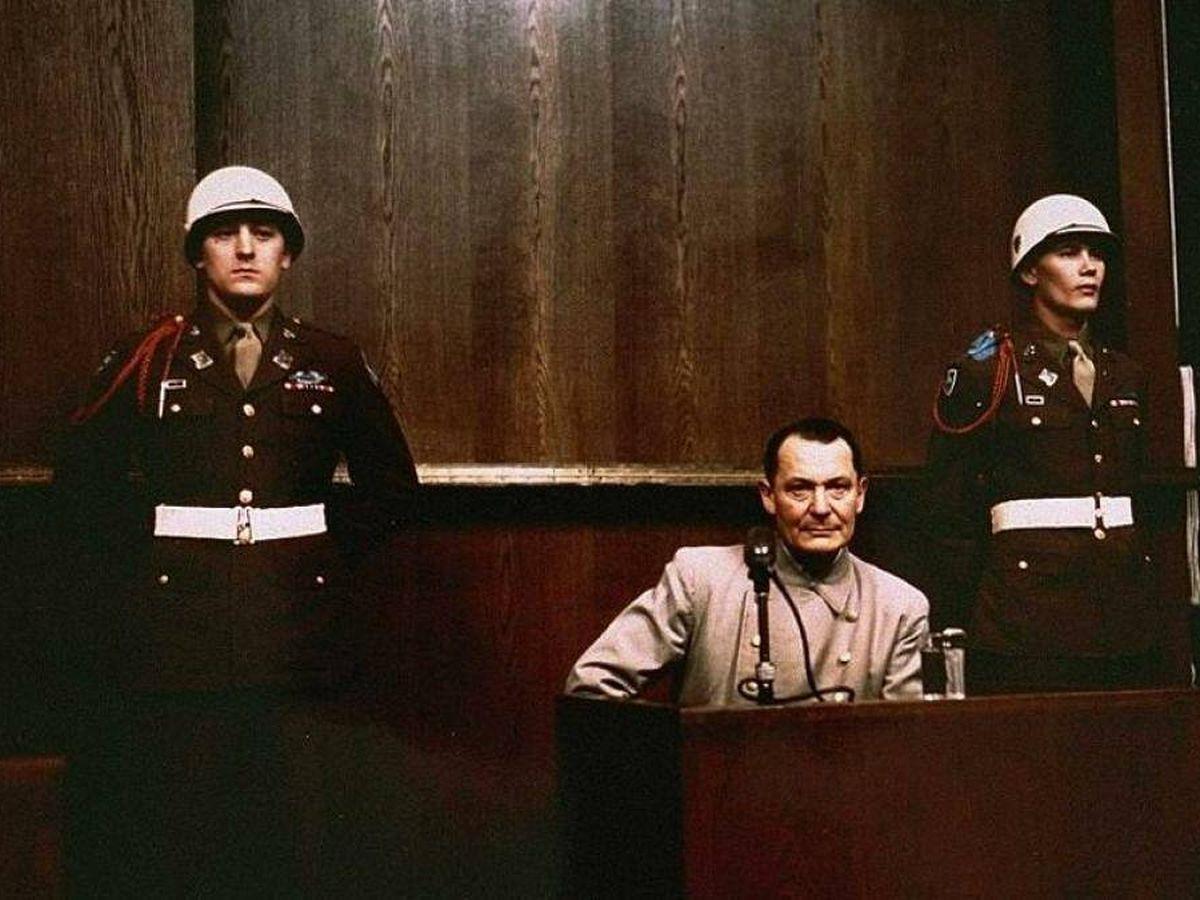 Foto: Goering durante su juicio en 1946