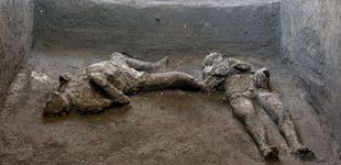 Post de Hallan en Pompeya los restos de un hombre y su esclavo muertos por el Vesubio