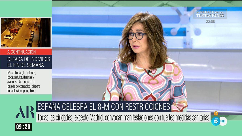 La advertencia de Ana Rosa Quintana en el 8-M: Que no me den lecciones de igualdad