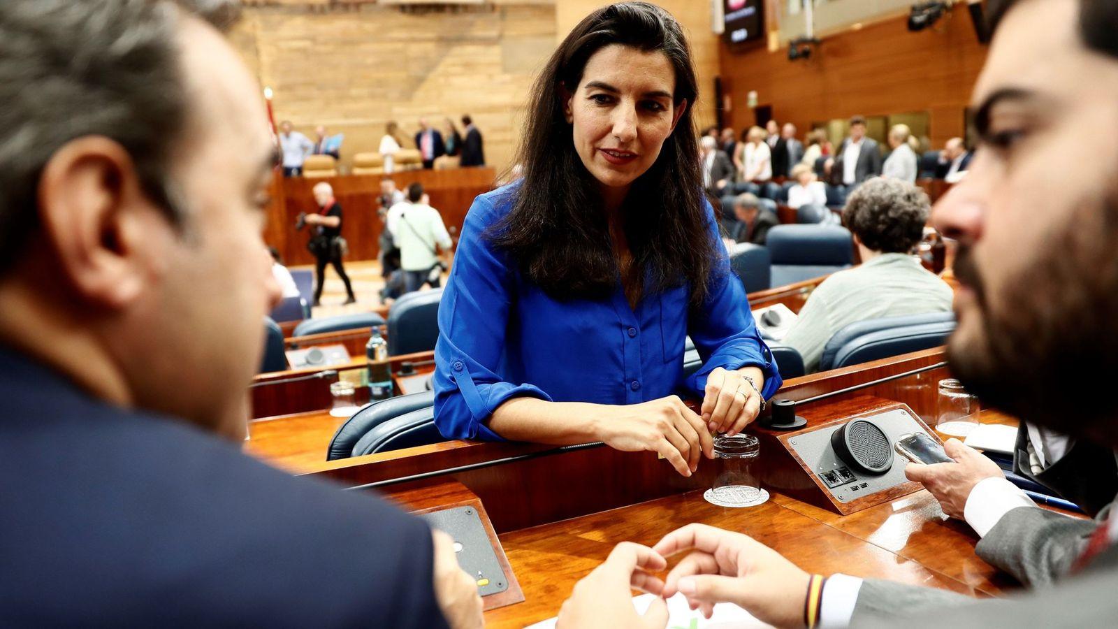 Foto: Rocío Monasterio, en la Asamblea de Madrid. (EFE)
