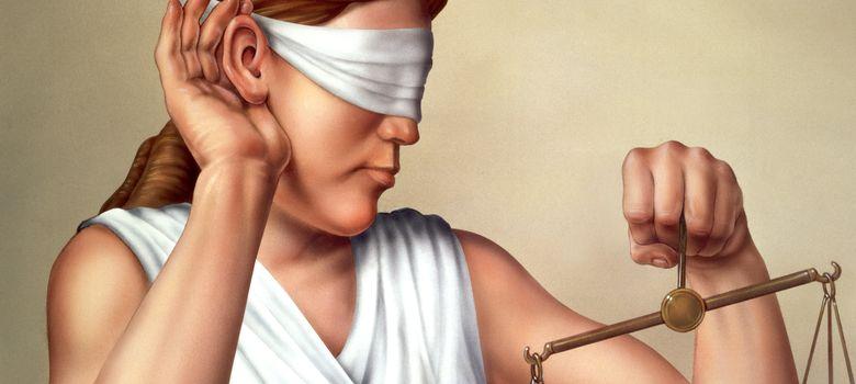 Foto: A veces la justicia es ciega, pero no sorda. (Corbis)