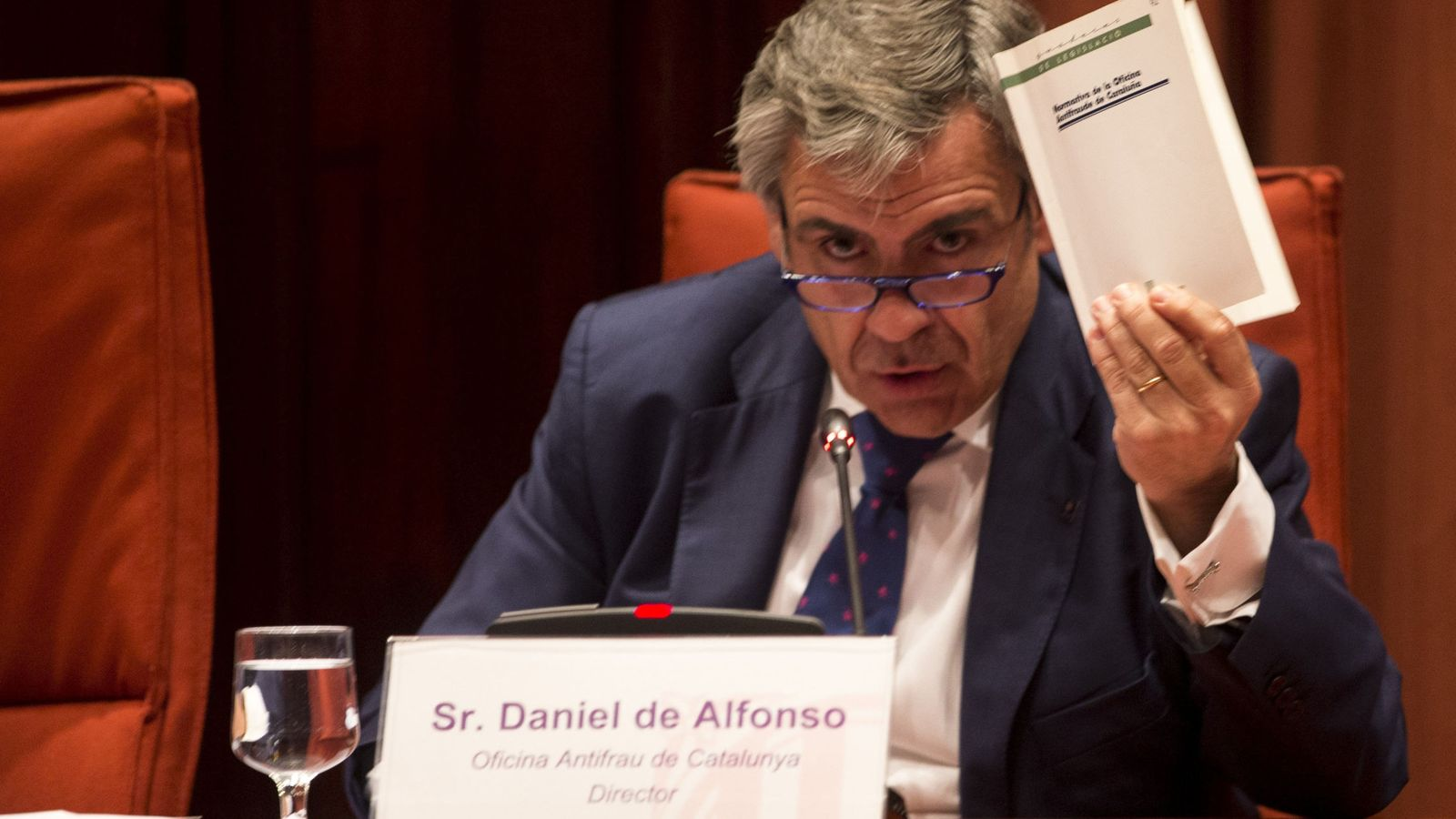 Foto: Daniel de Alfonso,comparece en el Parlament