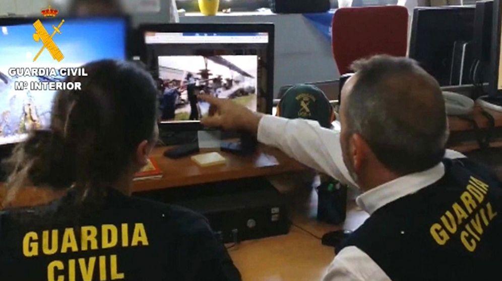 Foto: Imagen extraída del vídeo faciltado por la Guardia Civil de la operación Araña en abril de 2014. (EFE)