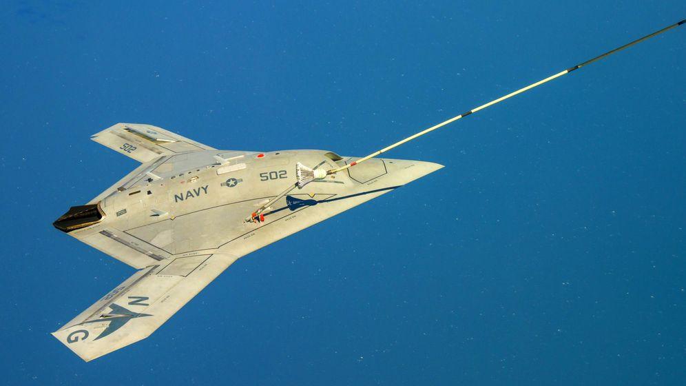 Foto: El X-47B en pleno vuelo. (Foto: USAF)