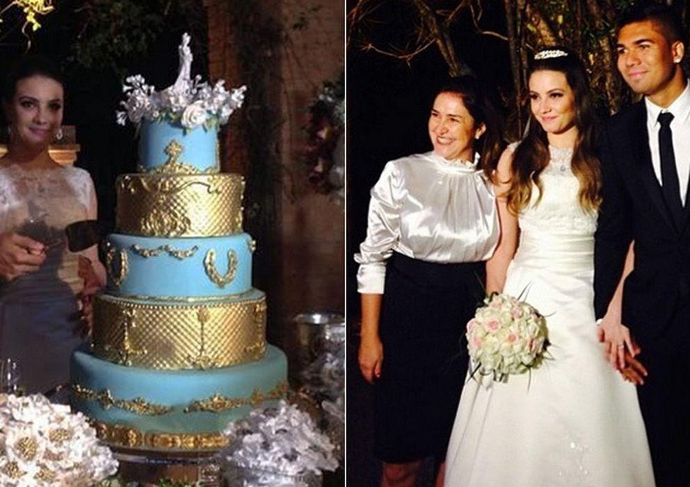 Foto: Casemiro y su mujer Anna María este sábado el día de su boda (Instagram)