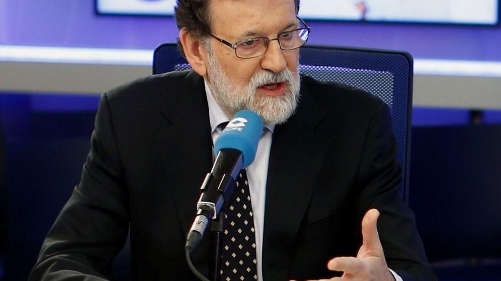Foto: Mariano Rajoy durante la entrevista. (EFE)