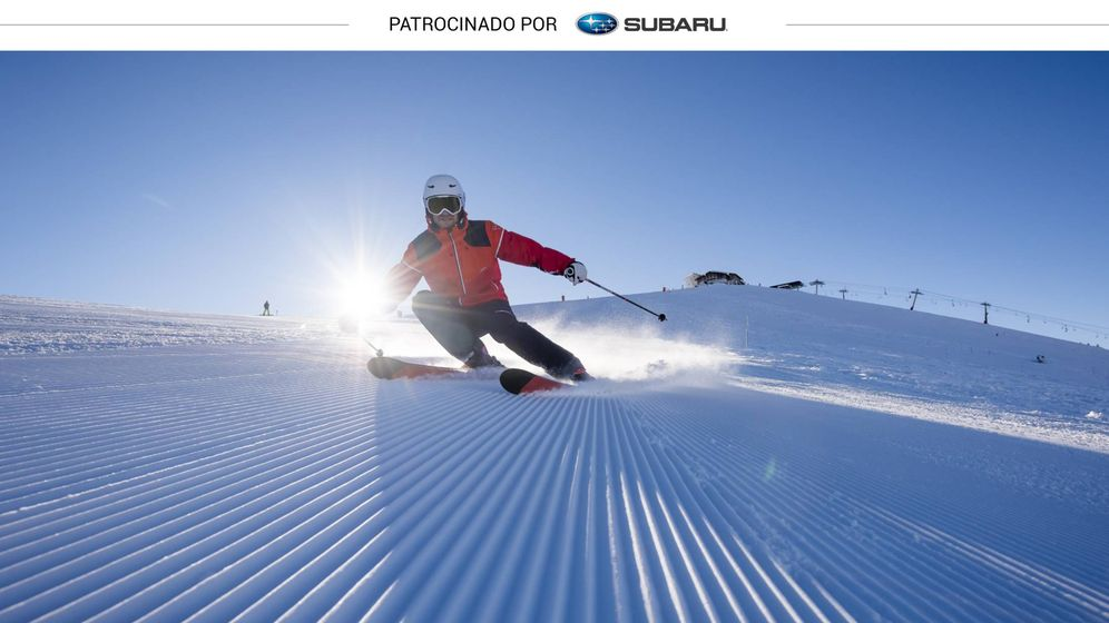Foto: Los esquís Adix 300 de Decathlon en acción.
