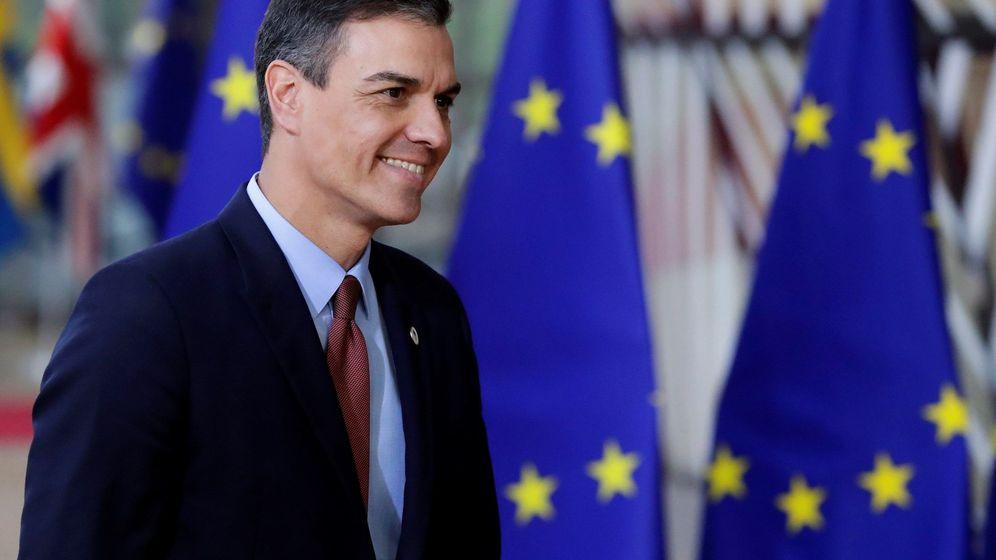 Foto: El presidente del Gobierno, Pedro Sánchez, a su llegada a la cumbre del Consejo Europeo, este 21 de marzo. (EFE)