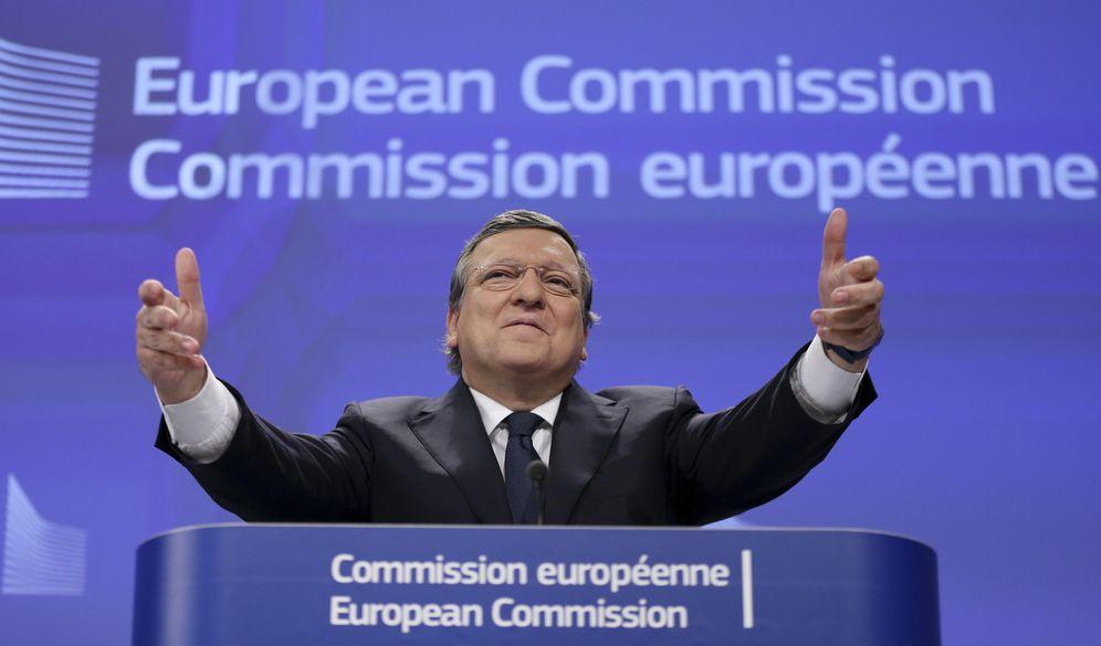 Foto: José Manuel Durao Barroso durante una rueda de prensa en la sede de la Comisión Europea, en Bruselas, el 29 de octubre de 2014 (Reuters).