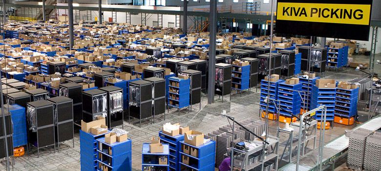 Foto: Los robots de Kiva Systems, 'startup' comprada por Amazon, son el alma de las grandes firmas de comercio electrónico